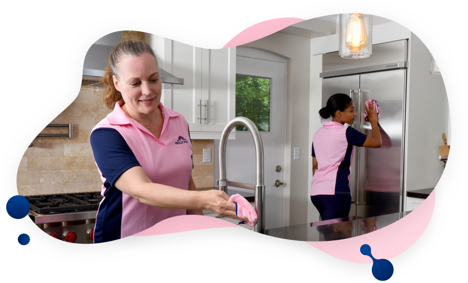 MOLLY MAID cleaners cleaning kitchen